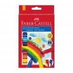 Faber-Castell Флумастери Jumbo, 12 цвята