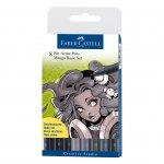 Faber-Castell Маркер Pitt Artist Pen, 8 цвята, Manga Set