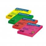Самозалепващи листчета Office Point Розов неон 75x75 mm  80 листа