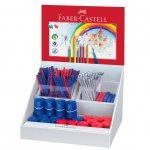 Faber-Castell Grip 2001 дисплей моливи/гуми/острилки синя/червена 210 части