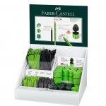 Faber-Castell Grip 2001 дисплей моливи/гуми/острилка черна/светлозелена 168 части