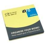 Самозалепващи листчета Info Notes Жълт неон 75х75 mm 80 листа