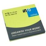 Самозалепващи листчета Info Notes Зелен неон 75х75 mm 80 листа