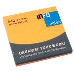 Самозалепващи листчета Info Notes Оранжев неон 75х75 mm 80 листа