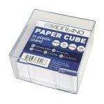 Fabriano Хартиено кубче, 83 x 83 mm, 80 g/m2, офсет, бяло, 360 листа, с пластмасова поставка