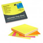 Самозалепващи листчета Info Notes Микс неон 75х75 mm 100 листа