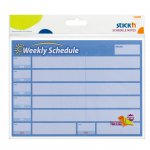 Stick'n самозалепващи листчета седмичен и месечен план 40 листа сини