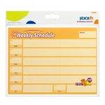 Stick'n самозалепващи листчета седмичен и месечен план 40 листа жълти