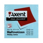 Самозалепващи листчета Axent Син пастел 75х75 mm 100л.