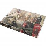 Panta Plast Бокс London Collection, PP, с ластик, A4, 2.5 cm