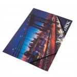 Panta Plast Папка New York Collection, PP, с ластик, с 3 капака, A4