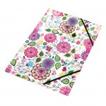 Panta Plast Папка Flowers Collection, PP, с ластик, с 3 капака, A4