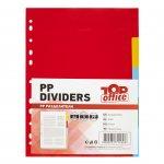 Top Office Разделител, PP, A4, с цветове, 5 броя