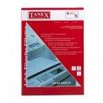 Tanex Самозалепващи етикети, A4, 63.5 x 72 mm, прави ъгли, 100 листа