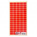 Top Office Самозалепващи етикети за цени, 12 x 22 mm, червени, 800 броя