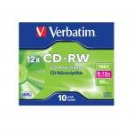 Verbatim CD-RW, презаписваем, 700 MB, 12x, с покритие против надраскване, в кутия