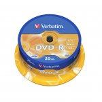 Verbatim DVD-R, 4.7 GB, 16x, AZO покритие, 25 броя в шпиндел