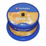 Verbatim DVD-R, 4.7 GB, 16x, AZO покритие, 50 броя в шпиндел