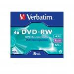 Verbatim DVD-RW, презаписваем, 4.7 GB, 4x, в кутия