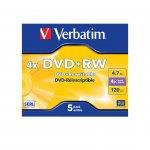 Verbatim DVD+RW, презаписваем, 4.7 GB, 4x, в кутия
