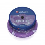 Verbatim DVD+R, 4.7 GB, 16x, AZO покритие, 25 броя в шпиндел