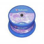 Verbatim DVD+R, 4.7 GB, 16x, AZO покритие, 50 броя в шпиндел