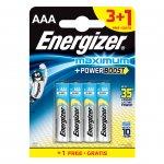 Energizer Алкална батерия MAX PLUS AAA, LR03, 1.5 V, 4 броя