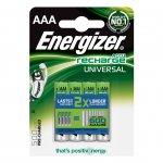 Energizer Акумулаторна батерия Universal, NiMH, AAA, LR03, 500 mAh, 1.2 V, 4 броя