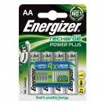 Energizer Акумулаторна батерия Power Plus, NiMH, AA, LR6, 2000 mAh, 1.2 V, 4 броя