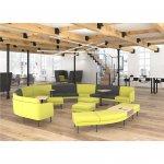 Narbutas Модулна мека мебел Arcipelago, 640x420x640 mm, дамаска Synergy светлосив меланж, черен метал