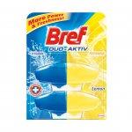 Bref Пълнител за ароматизатор за тоалетна Duo-Aktiv, лимон, 50 ml, 2 броя