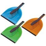 York Четка и лопатка, пластмасови, с гумен ръб, цветове асорти