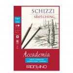Fabriano Скицник за рисуване Accademia, A4, 120 g/m2, зърнеста структура, подлепен, 50 листа