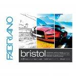 Fabriano Блок за рисуване Bristol, 297 x 420 mm, 250 g/m2, гладък, подлепен, 20 листа