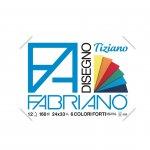 Fabriano Блок за рисуване Tiziano, 24 x 33 cm, 160 g/m2, наситени цветове, грапав, с ъгли, 6 цвята, 12 листа