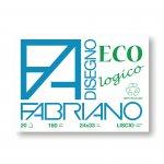 Fabriano Блок за рисуване Disegno Eco, 24 x 33 cm, 160 g/m2, гладък, с ъгли, 20 листа