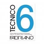 Fabriano Блок за рисуване Tecnico, A4, 220 g/m2, грапав, подлепен, 20 листа