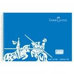Faber-Castell Скицник за рисуване, 35 x 50 cm, 120 g/m2, спирала, твърда PP корица, 30 листа