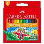 Faber-Castell Восъчни пастели, 12 цвята