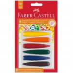 Faber-Castell Пастели Finger, 6 цвята