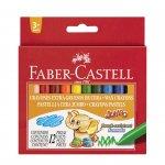 Faber-Castell Восъчни пастели джъмбо, 12 цвята