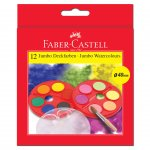 Faber-Castell Акварелни бои Jumbo, 40 mm, 12 цвята