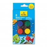 Adel Акварелни бои, 24 mm, 8 цвята, в кутия