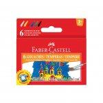 Faber-Castell Темперни бои, 15 ml, 6 цвята, в бурканчета