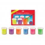 Faber-Castell Темперни бои, флуоресцентни, 15 ml, 6 цвята