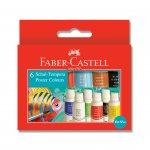 Faber-Castell темперни бои 6 цвята в тубички по 12 ml