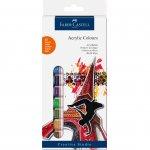 Faber-Castell Акрилни бои, в тубички, 12 ml, 12 цвята
