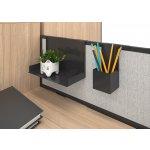 Narbutas Поставка за документи за преграден панел Nova Fabric, 310x220x200 mm, A4, черен метал