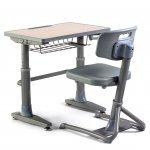 Чин Ученически с комплект стол iSTUDY, A101, сив