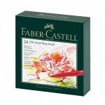 Faber-Castell Маркер-четка Pitt Artist Pen, B, 24 цвята, в кутия
